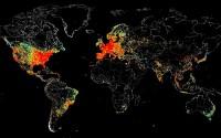 想知道全世界联网设备分布?这张地图告诉你